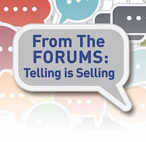 Forums Telling is Selling Logo