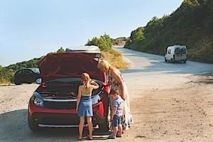 Vacation roadside breakdown