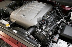 Photo 1: This Toyota 5.7L V8 truck engine offers relatively easy access to the ignition coils and spark plugs.