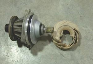 BMW electric Water Pumps broken plastic impeller