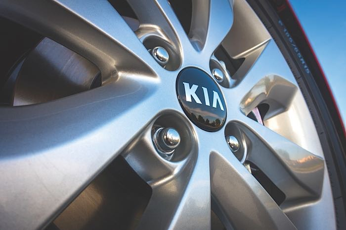 Kia maintenance hubcap