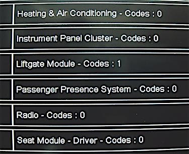 Modern enhanced scan tools can poll all modules and indicate the number of codes present.