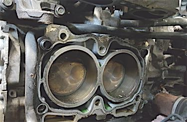 Be careful lifting the engine so that you don't pull the inner CV joint out of the transaxle.