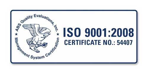 Arnott Receives ISO 9001:2008 Certification