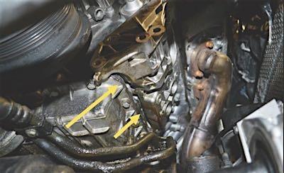 bmw v8 alternator gasket bracket