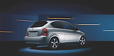 hyundai accent rear