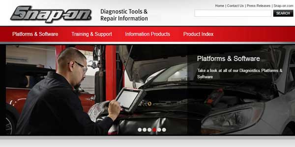 Snap-on Updates Diagnostic Website To Enhance User Experience