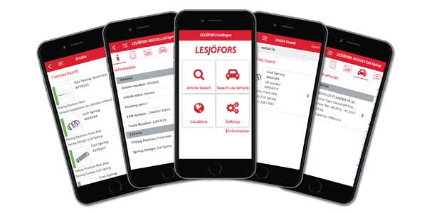Lesjöfors Springs America Launches New Free Catalog App
