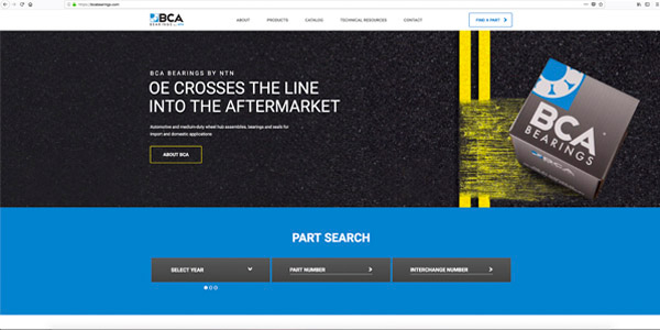 BCA Bearings Announces New Website
