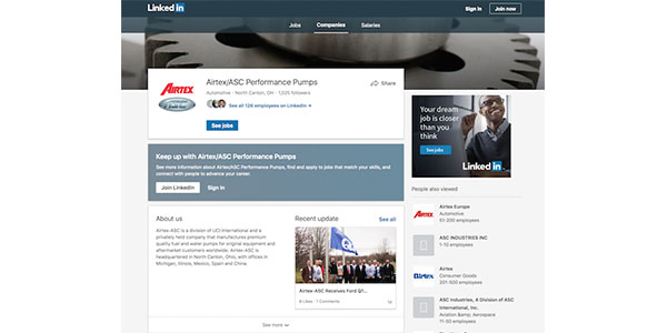 Airtex-ASC Introduces LinkedIn Page For North America