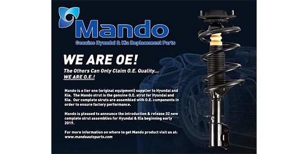 Mando Corp. Announces Complete Strut Assembly Program