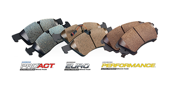 Akebono Kicks Off The Year With 6 Disc Brake Pad Kits, Expanding Pro-Act, Akebono Performance And Euro Lines