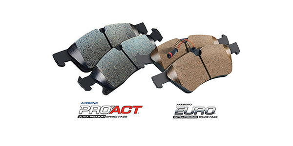 Akebono Expands Pro-Act And Euro Disc Brake Pad Offering