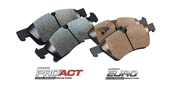 Akebono Releases ProACT And Euro Ultra-Premium Disc Brake Pads; 8 Parts Increase Coverage By Almost 4M Vehicles