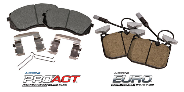 Akebono Adds 4 New Ultra-Premium Disc Brake Pad Kits To ProACT, Euro Lines